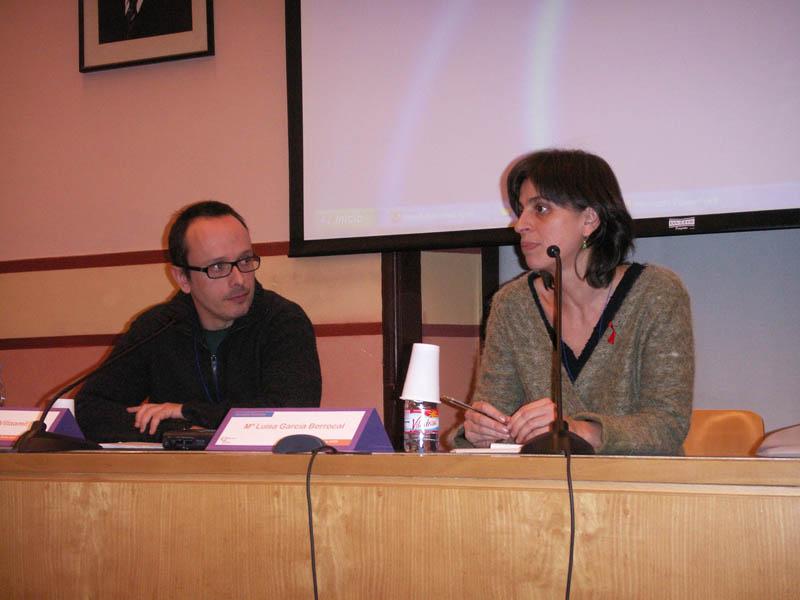 D. Fernando Villaamil, de la UCM, junto con Dña. M. Luisa García, de Creación Positiva