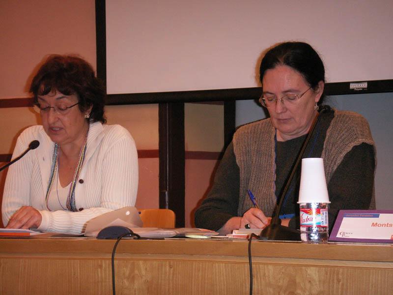 Dña. Pilar Blanco, de Red de Investigación Género y Salud junto con Dña. Montse  Cervera, del CAPS