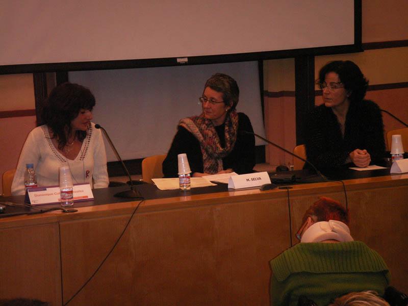 Clausura con Dña. Marta Selva (Institut Català de les Dones), Dña. Dominique Cubells y Dña. Begoña Pineda (Creación Positiva)